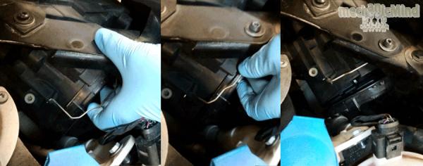 Figura 2: sono illustrate le fasi per la rimozione del coperchio in gomma