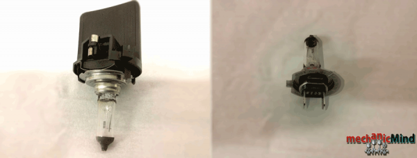 Figura 4: lampadina e supporto in plastica