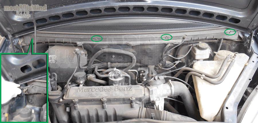 Schema Elettrico Mercedes Classe A W168 : Sostituzione filtro abitacolo mercedes classe a w