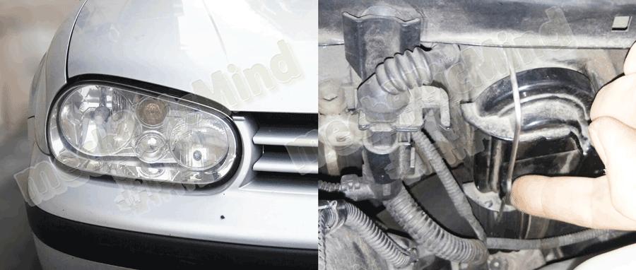 Volkswagen Golf Serie 4 Sostituzione Lampadina Faro ...