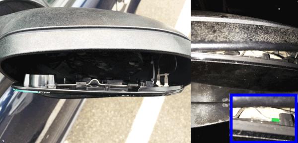 Figura 3: Lo specchietto va fatto combaciare e poi incastrato superiormente sul filo metallico