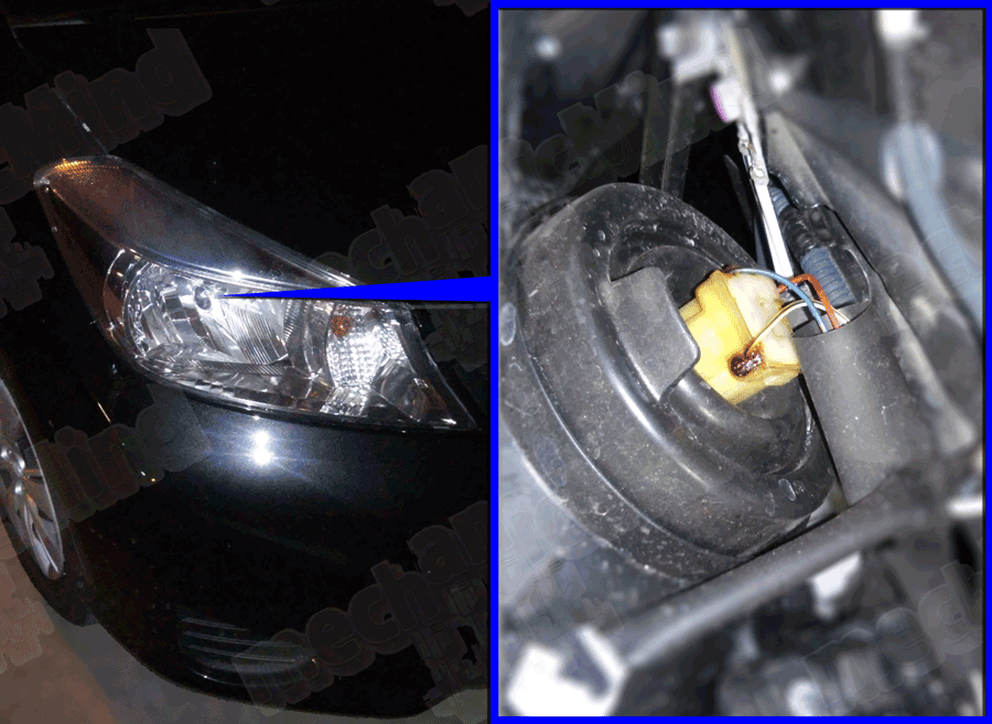 Schema Elettrico Yaris 2003 : Toyota yaris serie sostituzione lampadina faro