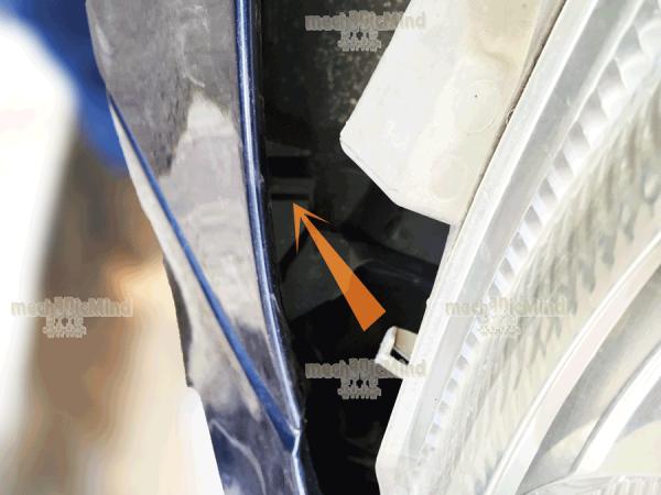 Figura 5: Fissaggio laterale del faro