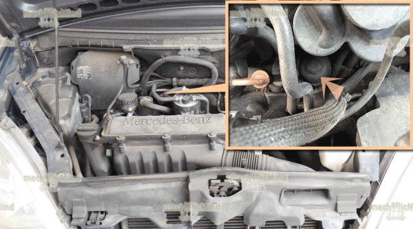 Figura 2: E' mostrata la posizione del filtro olio