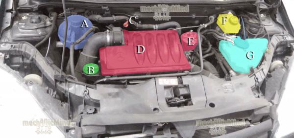 Figura 1: Infografica vano motore classe A W169