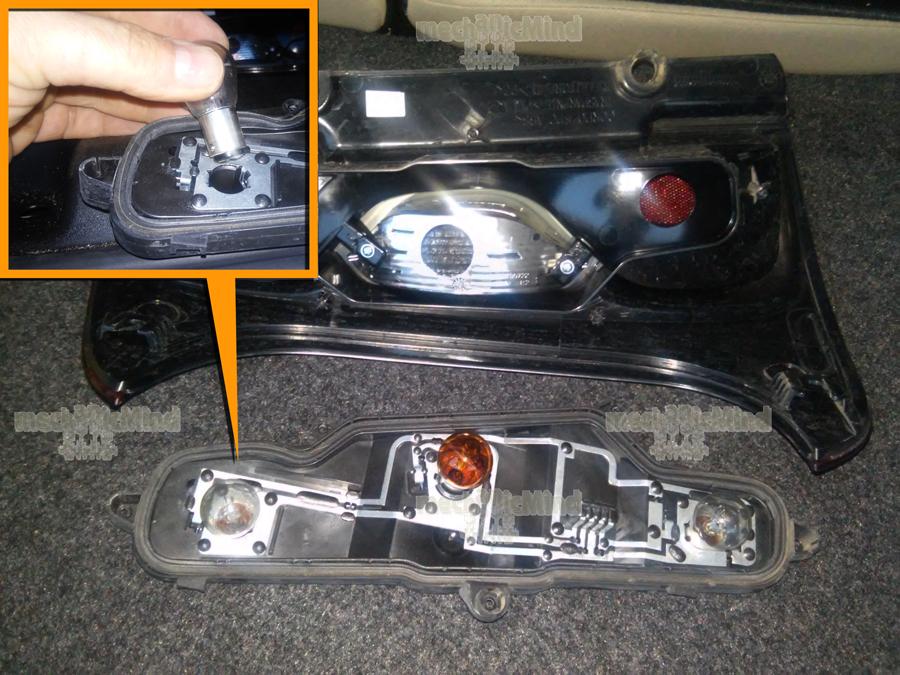 Fiat Panda  Sostituzione Lampadine Fanale Posteriore - MechanicMind