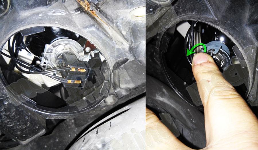 Mercedes Classe C W204 Sostituzione Lampadina Faro ...