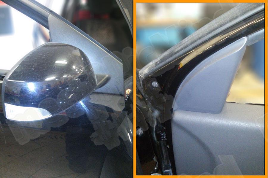 Figura 1: Specchietto laterale e coperchio interno