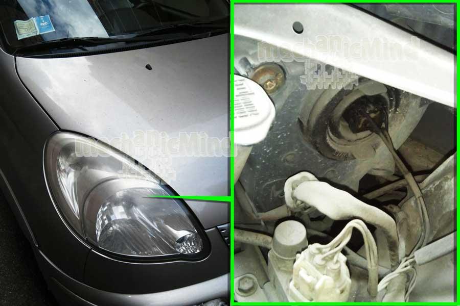 Toyota Yaris Verso Sostituzione Lampadina Faro ...